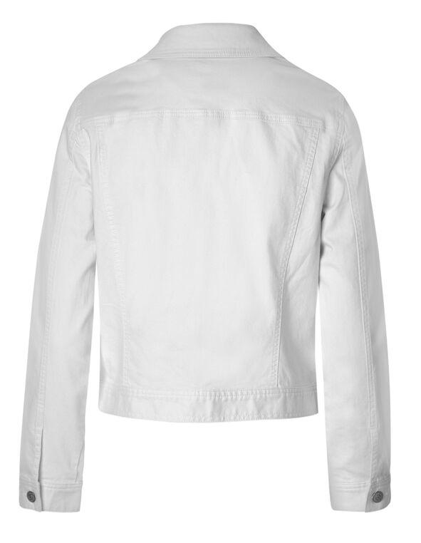 White Denim Jacket, White, hi-res