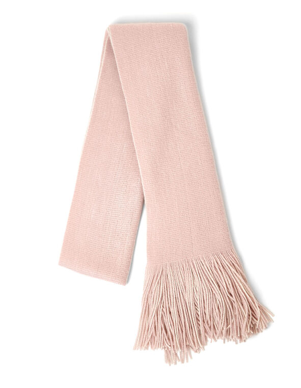 Pink Reversible Knit Scarf, Pink, hi-res