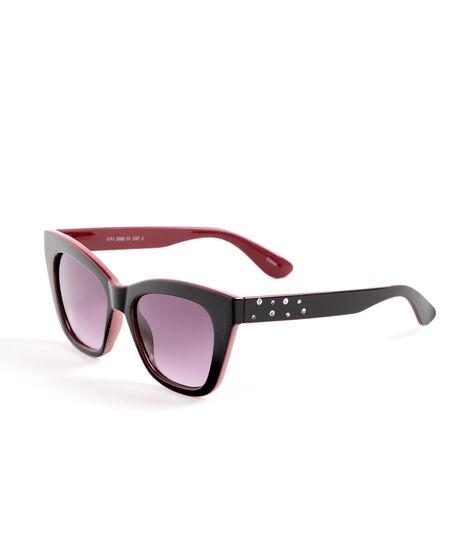 Black Red Cateye Sunglasses, Black/Red, hi-res