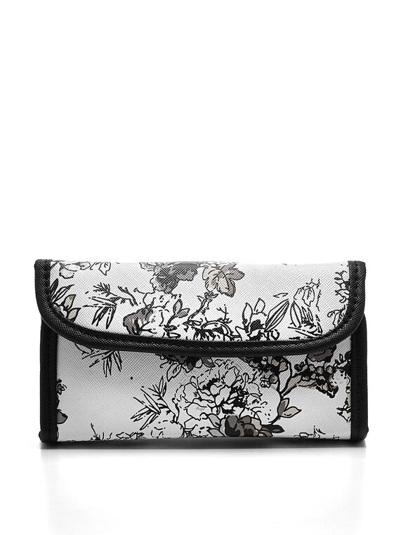 Floral Cosmetic Kit, White, hi-res