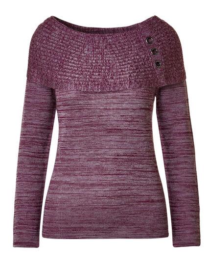 Mauve Marilyn Grommet Sweater, Mauve, hi-res