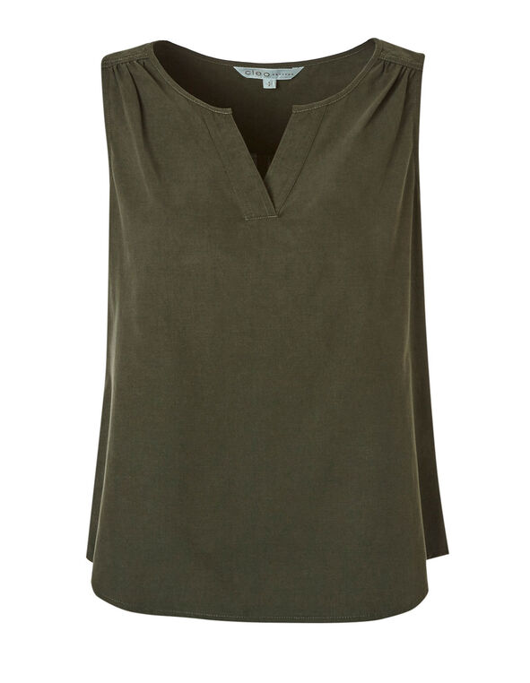 Green Ruched Detail Blouse, Green, hi-res