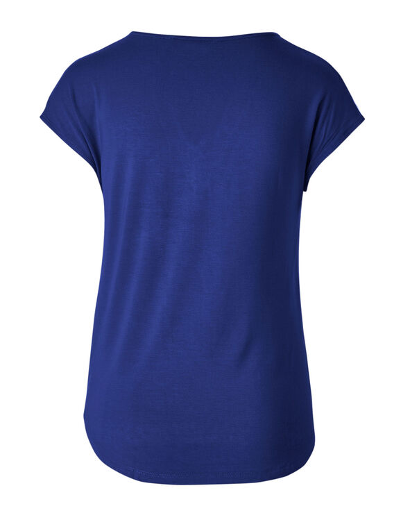 Electric Blue Pleated Top, Electric Blue, hi-res