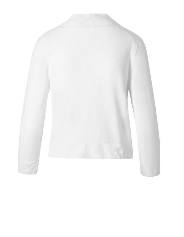 White Shrug Cardigan, White, hi-res