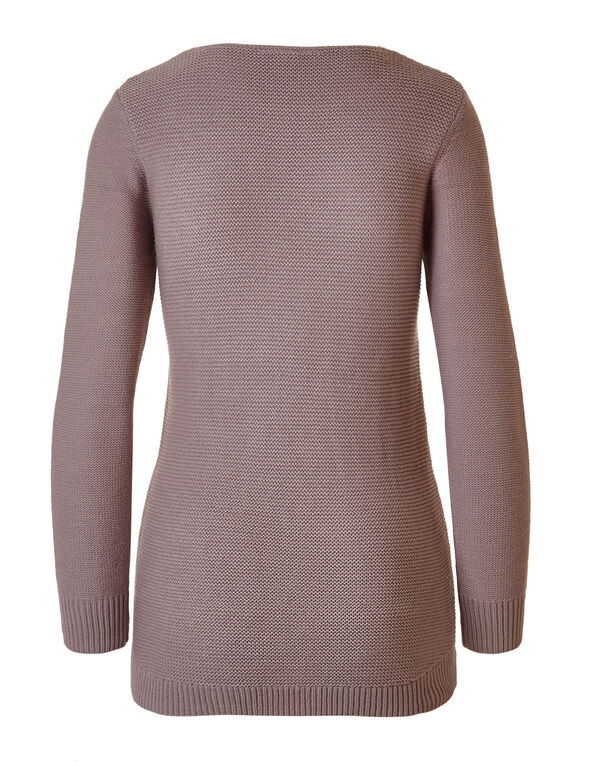 83b420fdf171c Light Plum Cable Knit Sweater