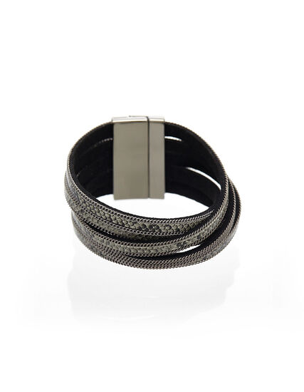 Snake Printed Wrap Bracelet, Natural, hi-res