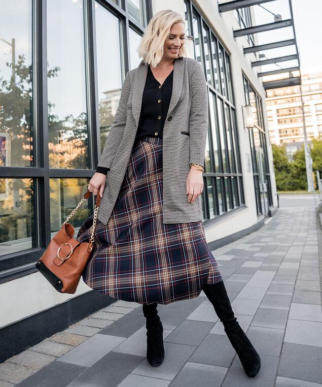 Plaid Skirt Look, , hi-res