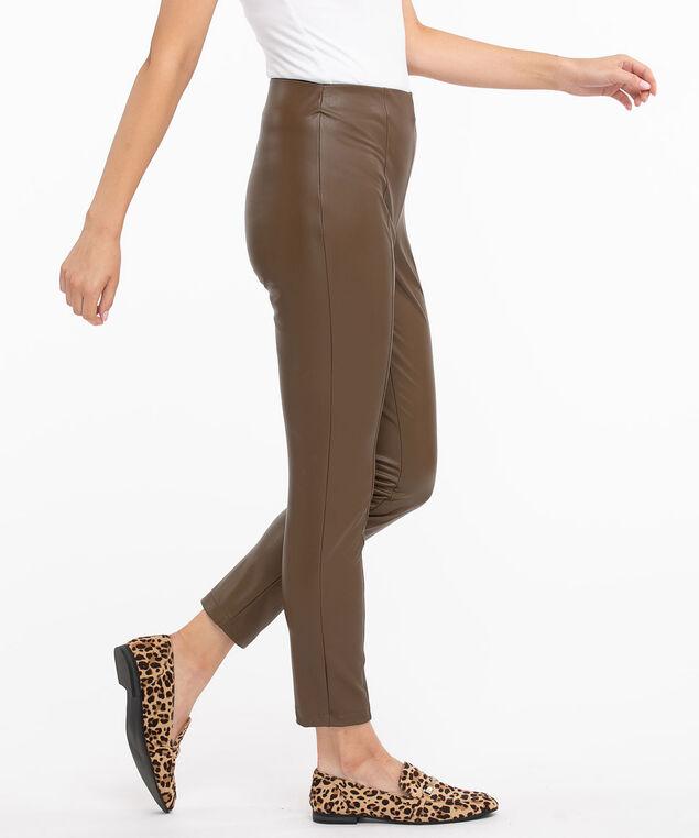 Vegan Leather Legging, Walnut