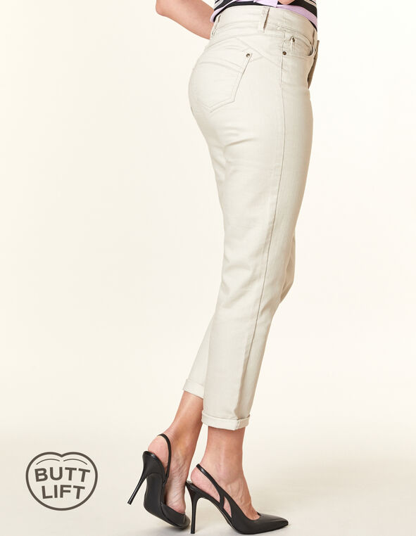 Stone Butt Lift Slim Jean, Neutral/Stone