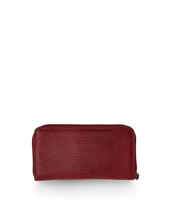 Textured Red Wallet, Red, hi-res