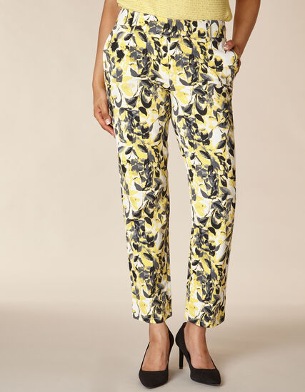 Citrus Floral Chino Slim Ankle Pant, Yellow/Citrus, hi-res