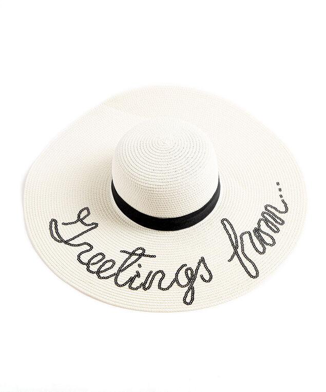 Wide Brim Floppy Hat, Ivory