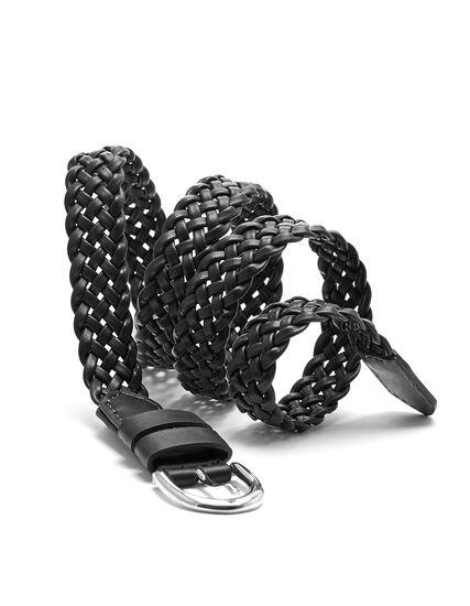 Black Braided Belt, Black, hi-res
