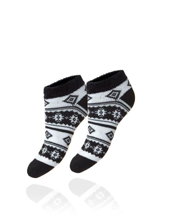 Black 2 Pack Cozy Socks, Black, hi-res