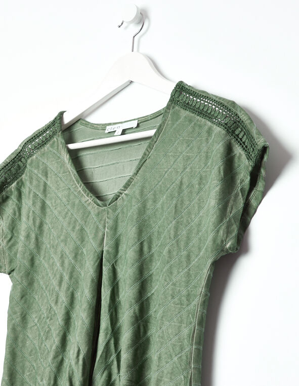 Knot Front Top, Green, hi-res
