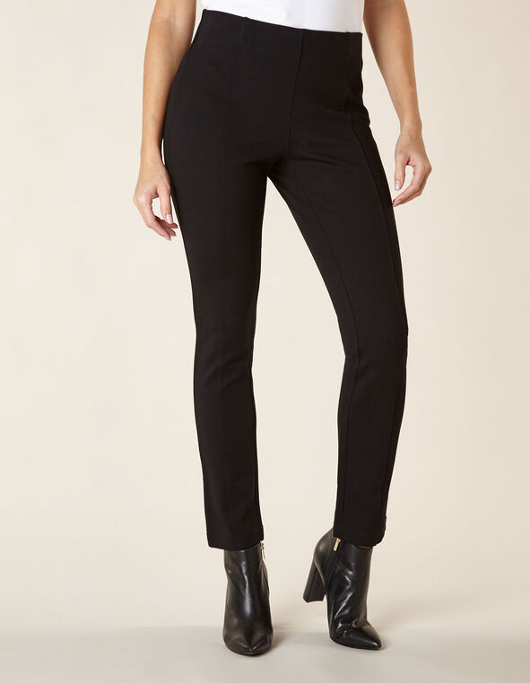 Black Front Seam Legging, Black, hi-res