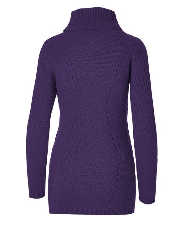 Grape Turtleneck Sweater, Grape, hi-res