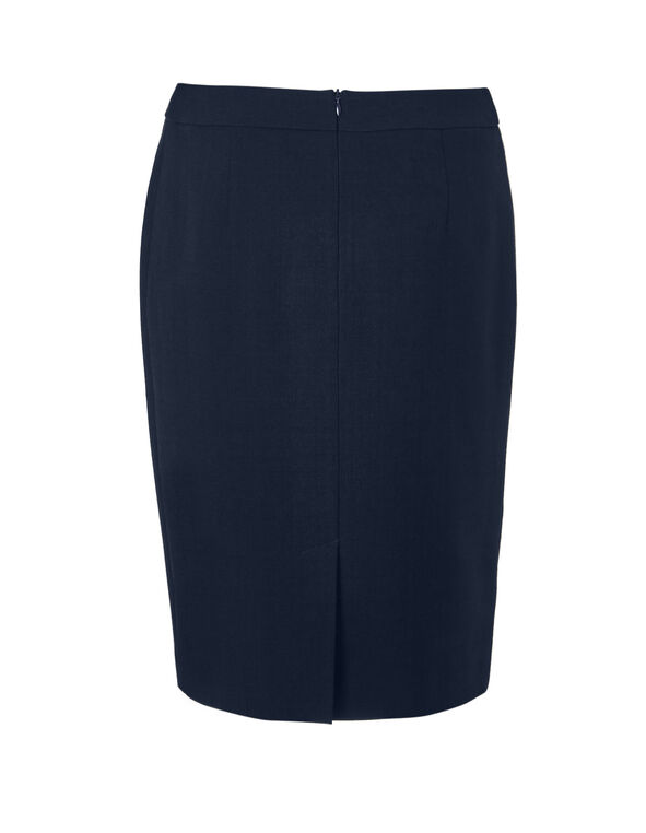 Navy Suiting Pencil Skirt, Navy, hi-res