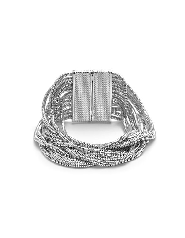 Silver Snake Chain Bracelet, Silver, hi-res