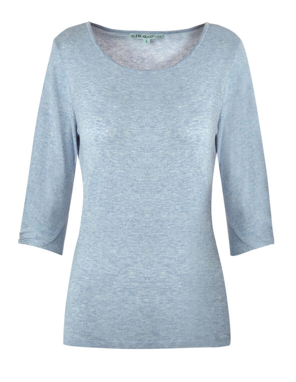 Light Blue Knot Detail Pullover, Light Blue, hi-res