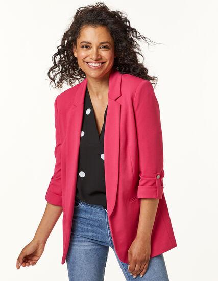 Hot Pink Blazer, Pink, hi-res