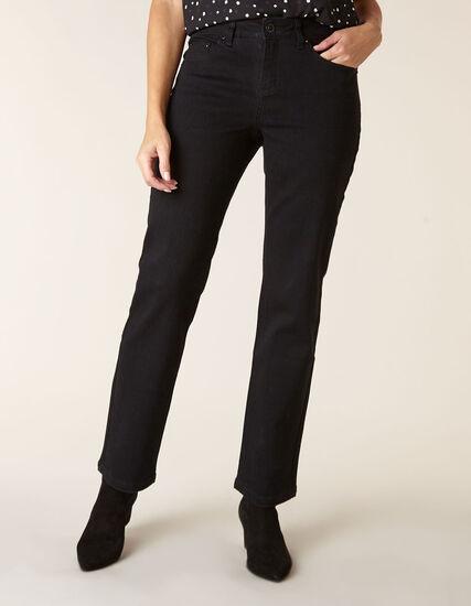 Black Bling Straight Leg Jean, Black, hi-res