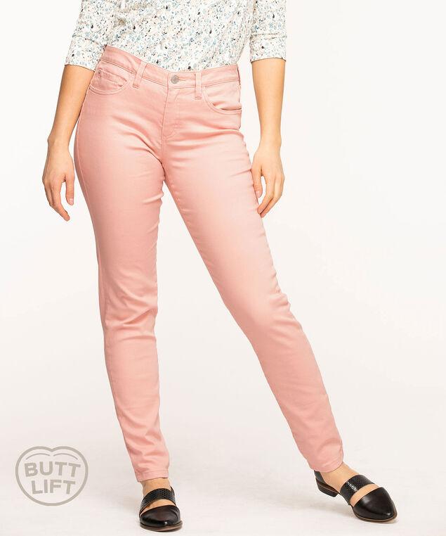 Butt Lift 5-Pocket Slim Pant, Ballet Pink
