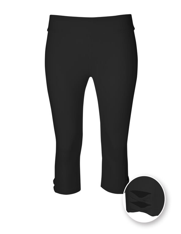 Black Cotton Skimmer Legging, Black, hi-res