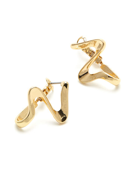 Gold Twisted Earring, Gold, hi-res