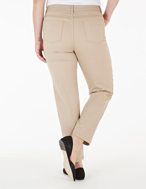 Tan Zip Ankle Jean, Tan, hi-res
