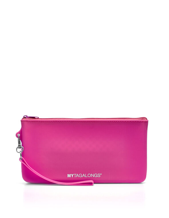 Hot Pink Silicone Beach Clutch, Hot Pink, hi-res