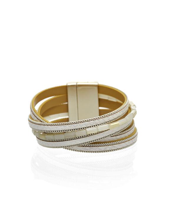 Neutral Magnetic Wrap Bracelet, Neutral, hi-res