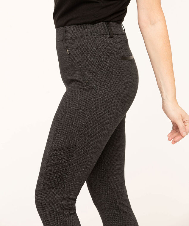 Charcoal Moto Style Legging, Charcoal, hi-res