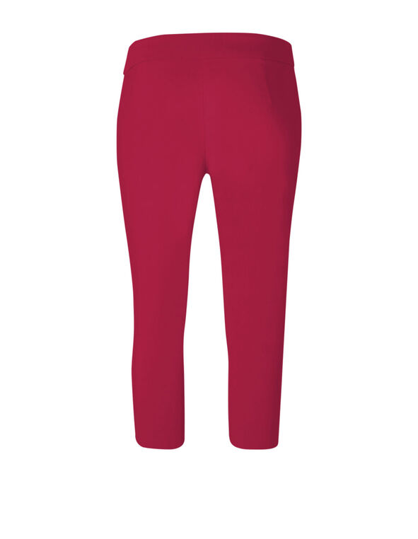 Hot Pink Capri Pull On Pant, Hot Pink, hi-res