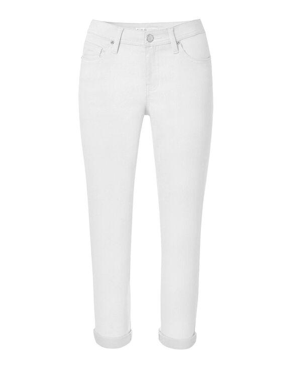 White Slim Ankle Jean, White, hi-res