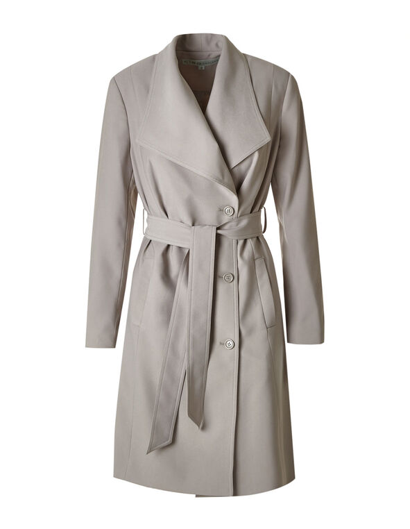 a719a93fcfd ... Mushroom Soft Belted Trench Coat