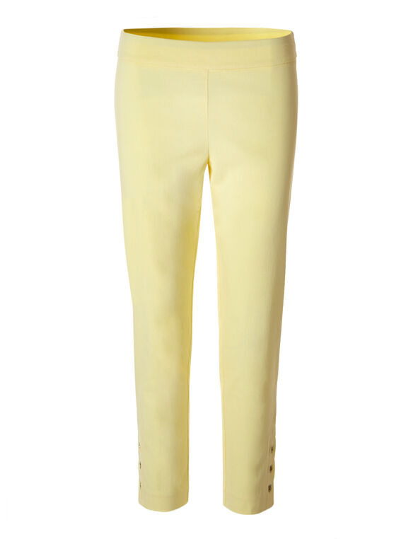 Yellow Signature Ankle Pant, Yellow, hi-res