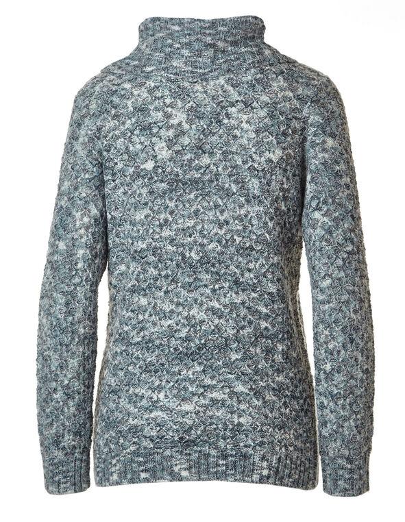 Light Teal Button Wrap Sweater, Light Teal, hi-res