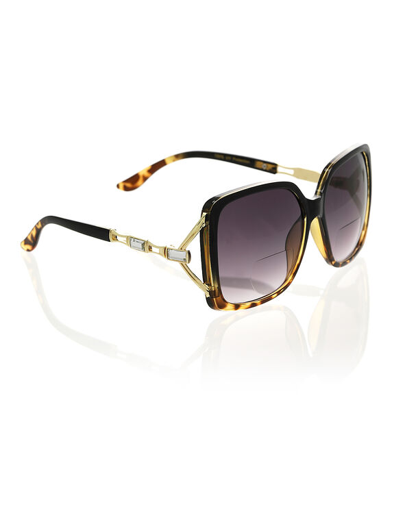 Tortoise Bi-Focal Sunglasses, Brown, hi-res