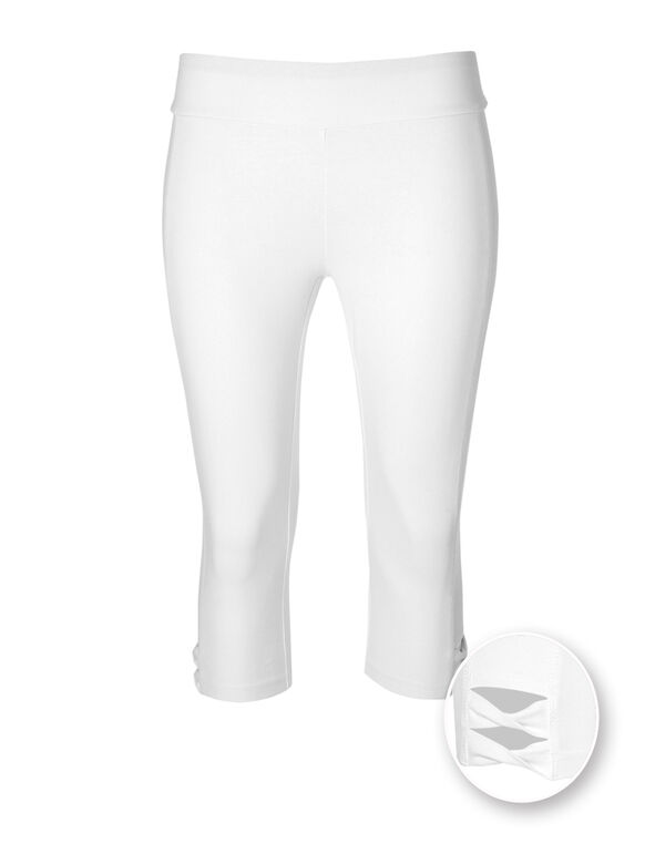 White Cotton Skimmer Legging, White, hi-res