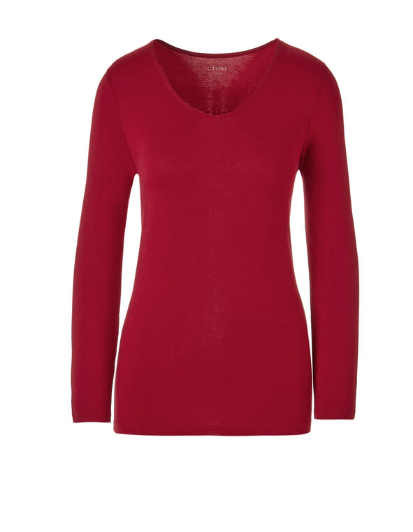 Winter Red Long Sleeve Tee, Winter Red, hi-res