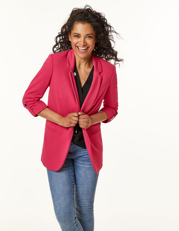 Hot Pink Blazer, Pink, hi-res