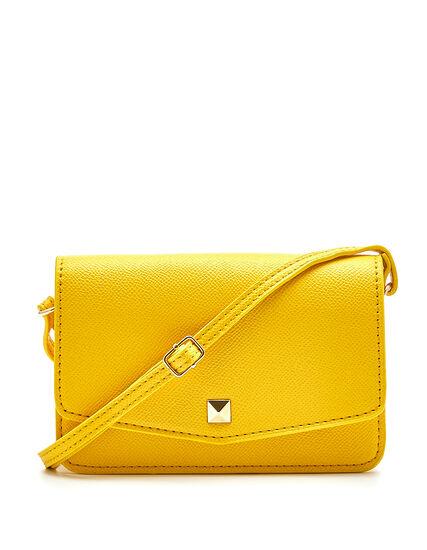 Yellow Phone Case Crossbody Bag, Yellow, hi-res
