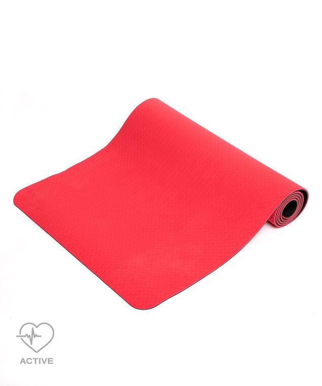 Reversible Textured Yoga Mat, Red