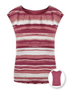 Rose Striped Reversible Blouse, Rose, hi-res