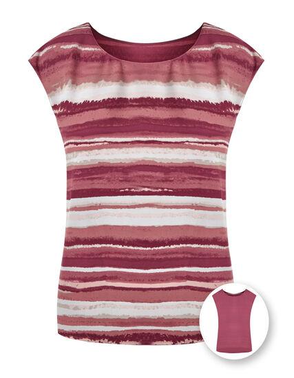 Rose Striped Reversible Blouse, Rose, hi-res