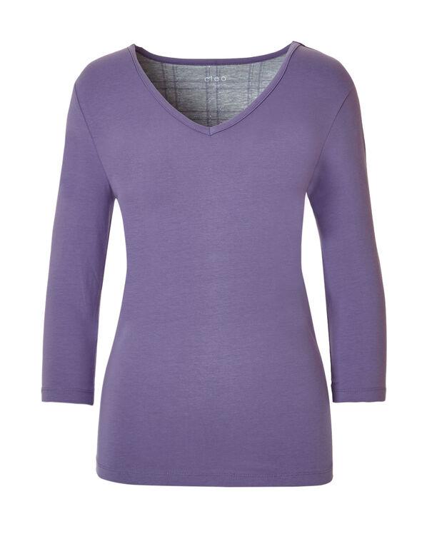 Lavender Plaid Ankle Pajama Set, Lavender, hi-res