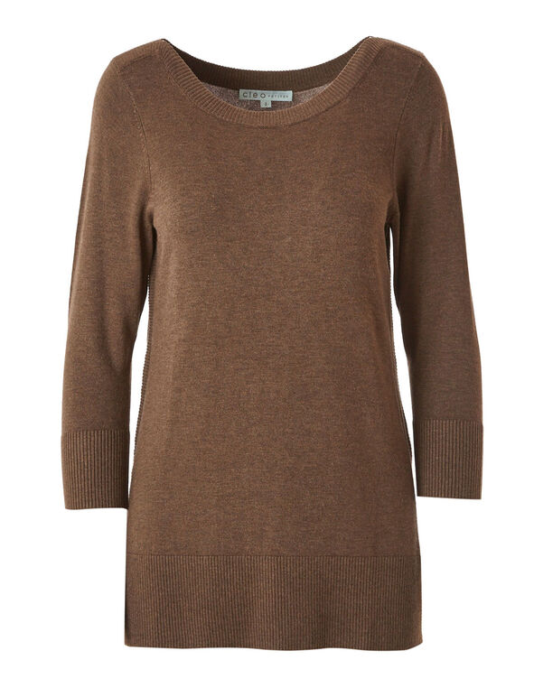 Brown Essential Sweater, Brown, hi-res