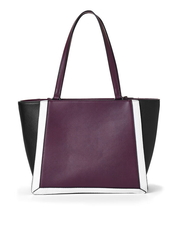Berry Colour Block Handbag, Purple/Berry, hi-res