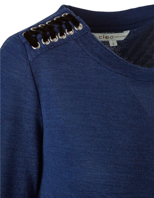 Dark Blue Hacchi Top, Blue, hi-res